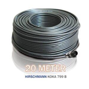 NORDSAT Kabelset med 20m svart kabel
