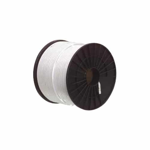 MACAB Kabel RG-59T (0,8/3,6) tr-skärmad, vit PVC,100m bobin