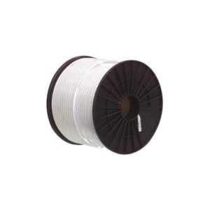 NORDSAT Kabel RG-6T (1,0/4,6)tr-skärmad,vit PVC,305m bobin
