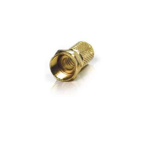 NORDSAT F-kontakt twist on guldpläterad 8,2 mm