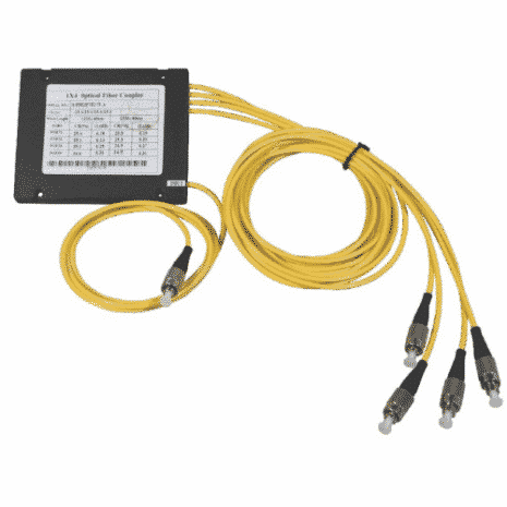 TOS04 4-vägs optisk splitter med FC/PC kontakt.