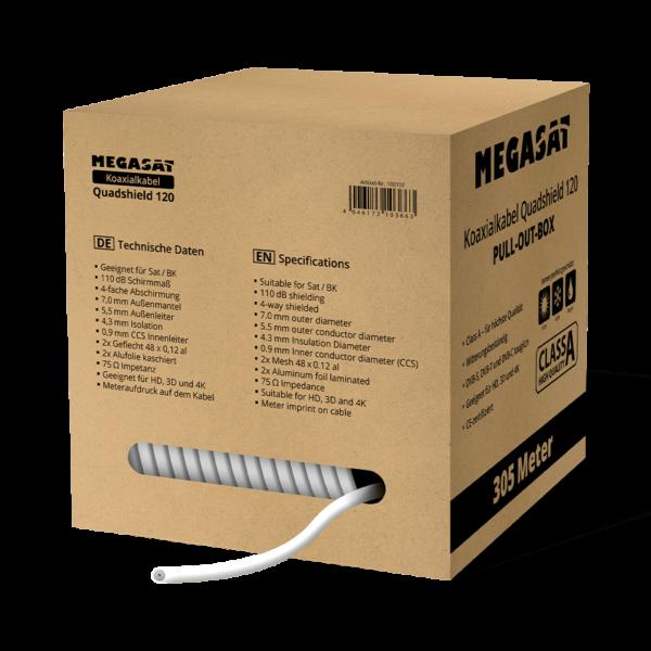 MEGASAT Koaxialkabel Quadshield 120