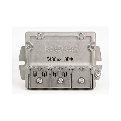 TELEVES Fördelare,Easy-F, 3-vägs, 6,5dB, dc 5-2400