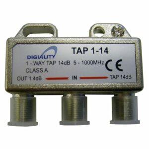 DIGIALITY DIGIALITY 1-vägs tap 1-14, 5-1000 MHz, 1,4 dB