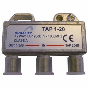 DIGIALITY DIGIALITY 1-vägs tap 1-20, 5-1000 MHz, 1,2 dB