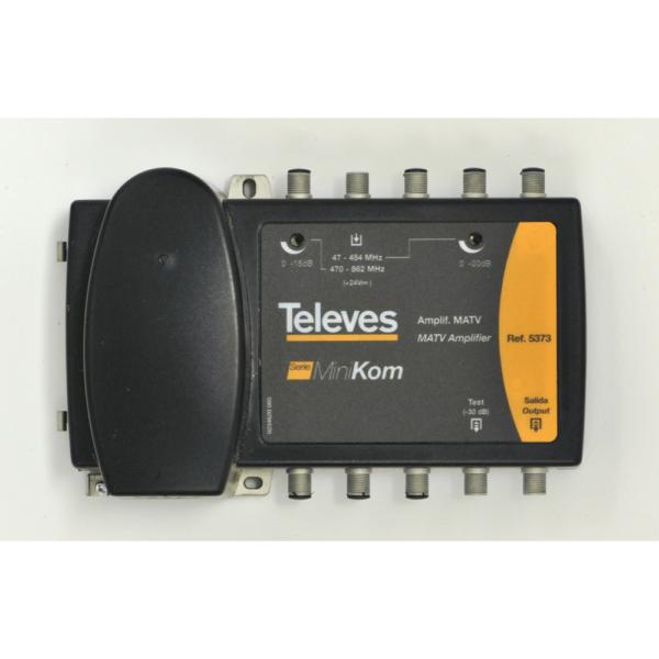 TELEVES Förstärkare, Ref: 5373/5368 Splittband, VHF/UHF