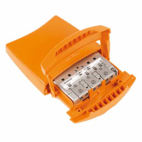 TELEVES Mastfilter, HF-4041DC, 3 ing. VHF, UHF, UHF, 1/5dB