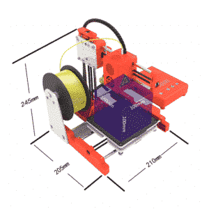 NORDSAT Easythreed X1 3D Printer + 2 rullar PLA